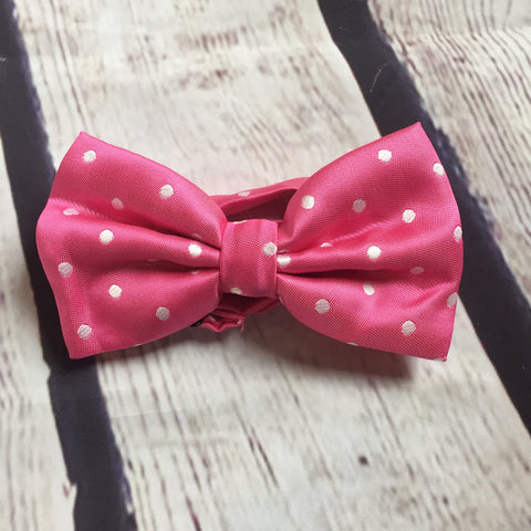 Boys Bow Tie - Pink Dot
