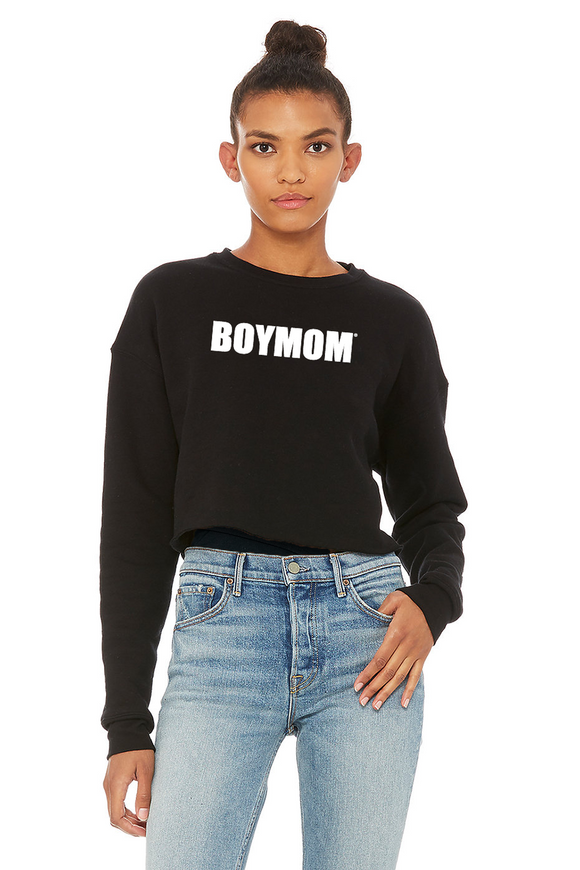 Boymom Cropped Sweatshirt