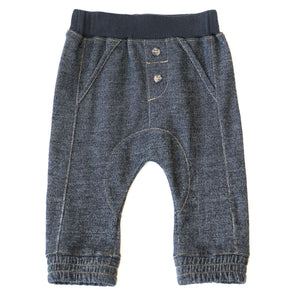 Baby Knit Jogger - Black Denim