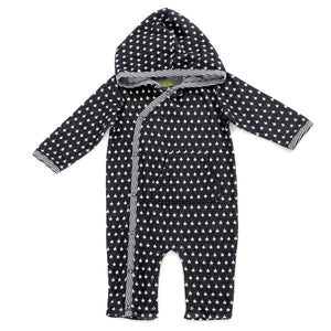 Black Stars Hooded Infant Romper