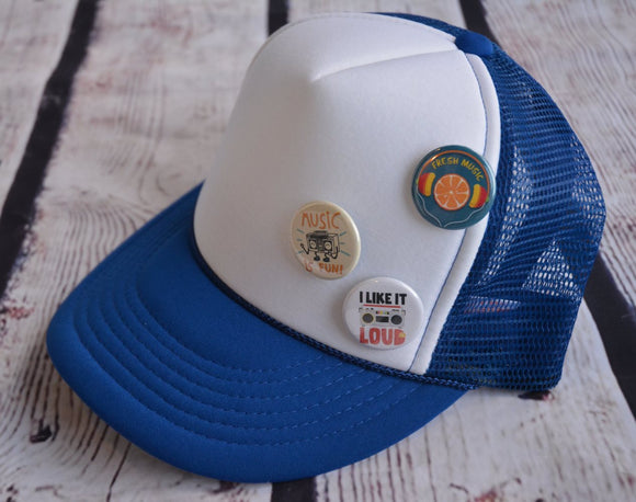 Trucker Hat with Pins: Music