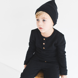 Slouchy Gold-Speckle Beanie