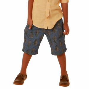 Chambray Pineapple Shorts - Clearance!