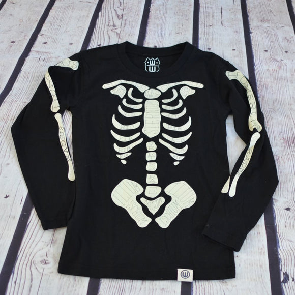 Skeleton LS T-shirt, 18M - Clearance!