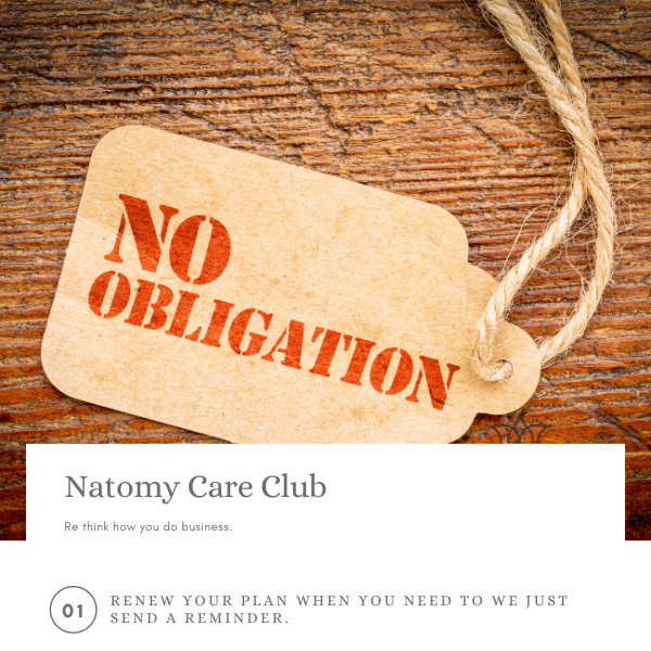 Natomy Care Club $49.99 / Month