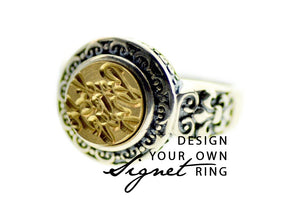 Design your own 10mm Deco Signet Ring - Backtozero