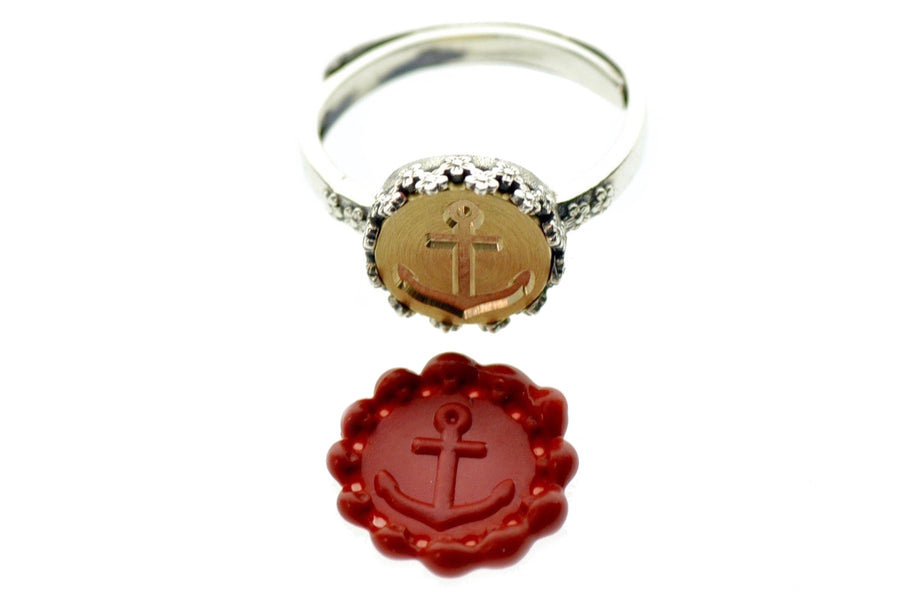 Anchor Signet Ring - Backtozero