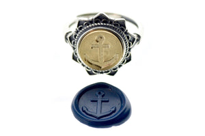 Anchor Signet Ring - Signet Ring - Backtozero