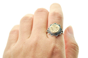 Shamrock Signet Ring