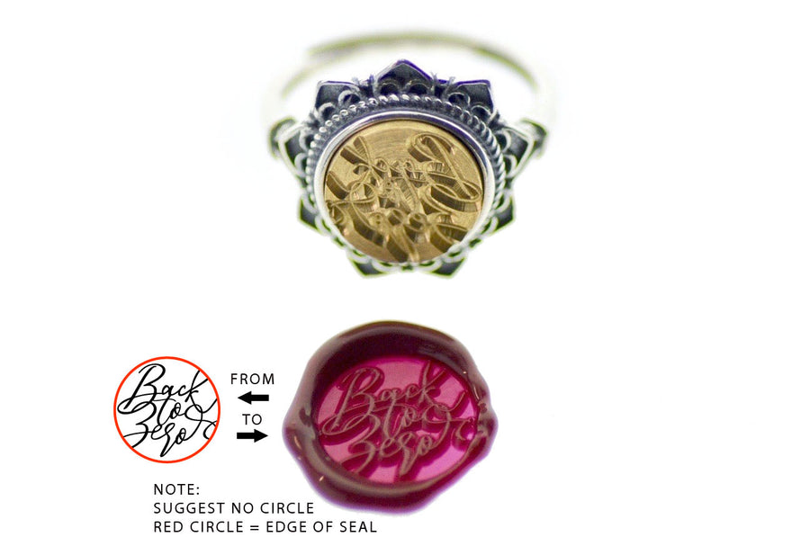 Design your own 10mm Floral Signet Ring - Backtozero