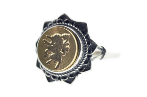 Unicorn Signet Ring - Backtozero