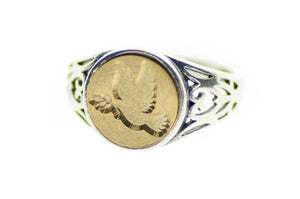 Dove Signet Ring - Signet Ring - Backtozero