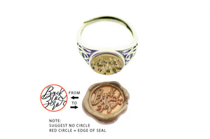 Design your Own 10mm Filigree Signet Ring - Signet Ring - Backtozero
