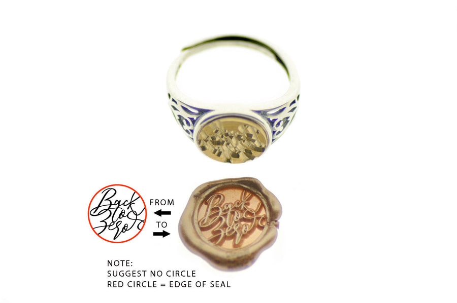 Design your Own 10mm Filigree Signet Ring - Backtozero
