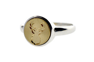 Antler Signet Ring - Backtozero