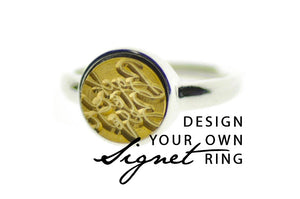Design your own 10mm Minimal Signet Ring - Backtozero
