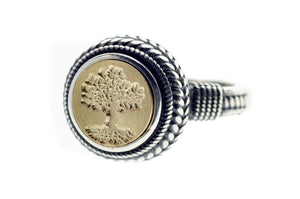Tree of Life Signet Ring - Backtozero