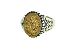 Lily of the Valley Signet Ring - Signet Ring - Backtozero