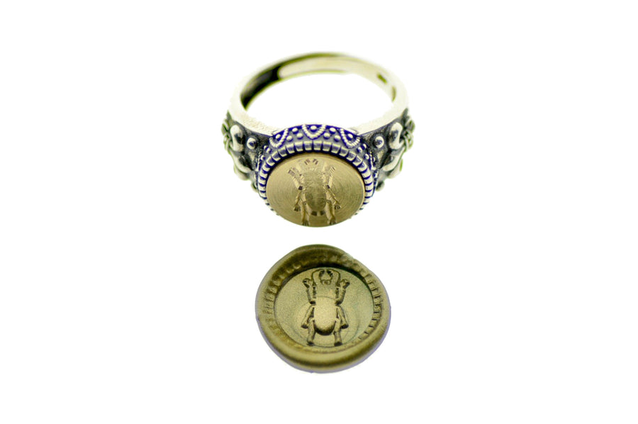 Stag Beetle Signet Ring