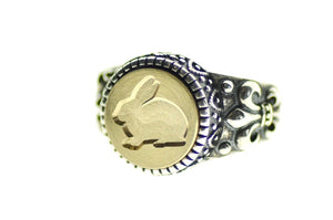 Rabbit Signet Ring - Signet Ring - Backtozero