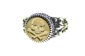 Skull Bone Signet Ring - Signet Ring - Backtozero