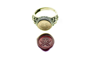 Skull Sword Signet Ring