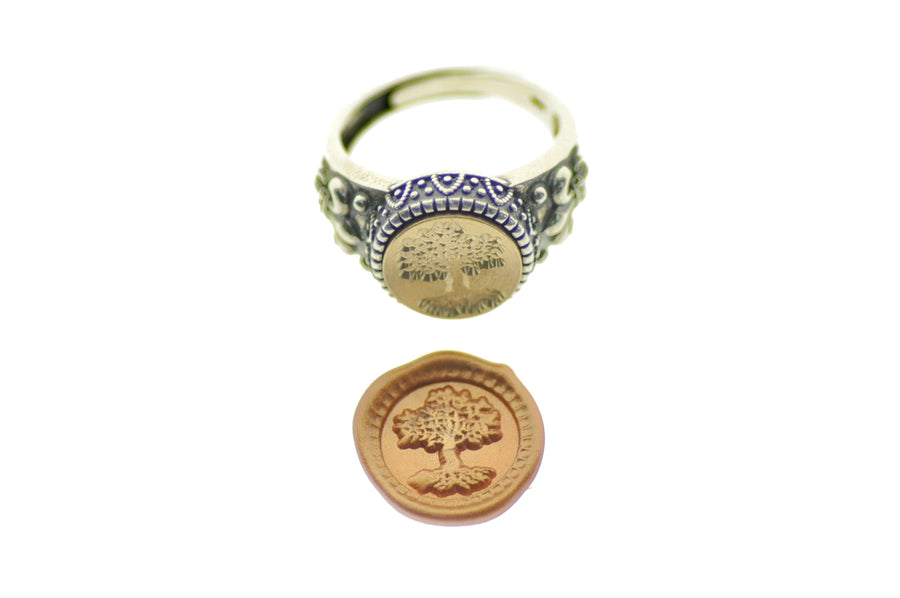 Tree of Life Signet Ring - Signet Ring - Backtozero