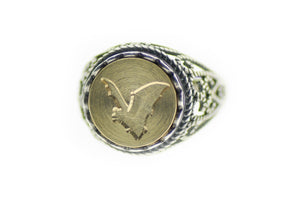 Bat Signet Ring - Signet Ring - Backtozero
