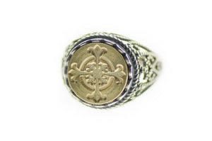 Cross Signet Ring - Signet Ring - Backtozero