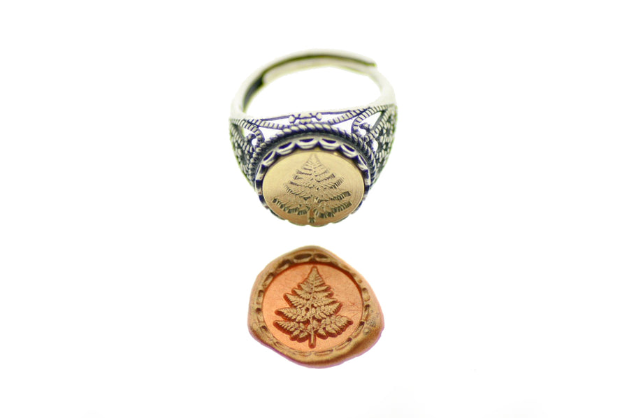 Fern Signet Ring - Signet Ring - Backtozero