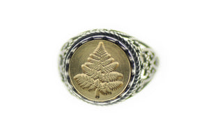 Fern Signet Ring - Backtozero