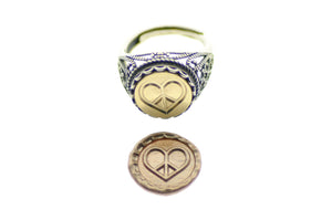 Peace Love Signet Ring