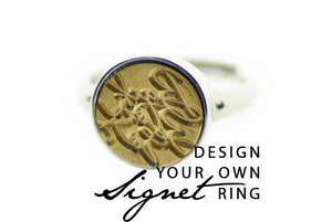 Design your own 12mm Minimal Signet Ring - Signet Ring - Backtozero