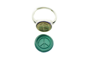 Peace Signet Ring - Signet Ring - Backtozero