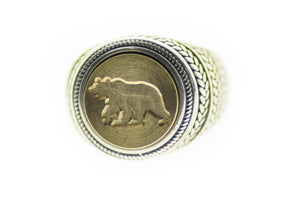 Bear Signet Ring - Signet Ring - Backtozero