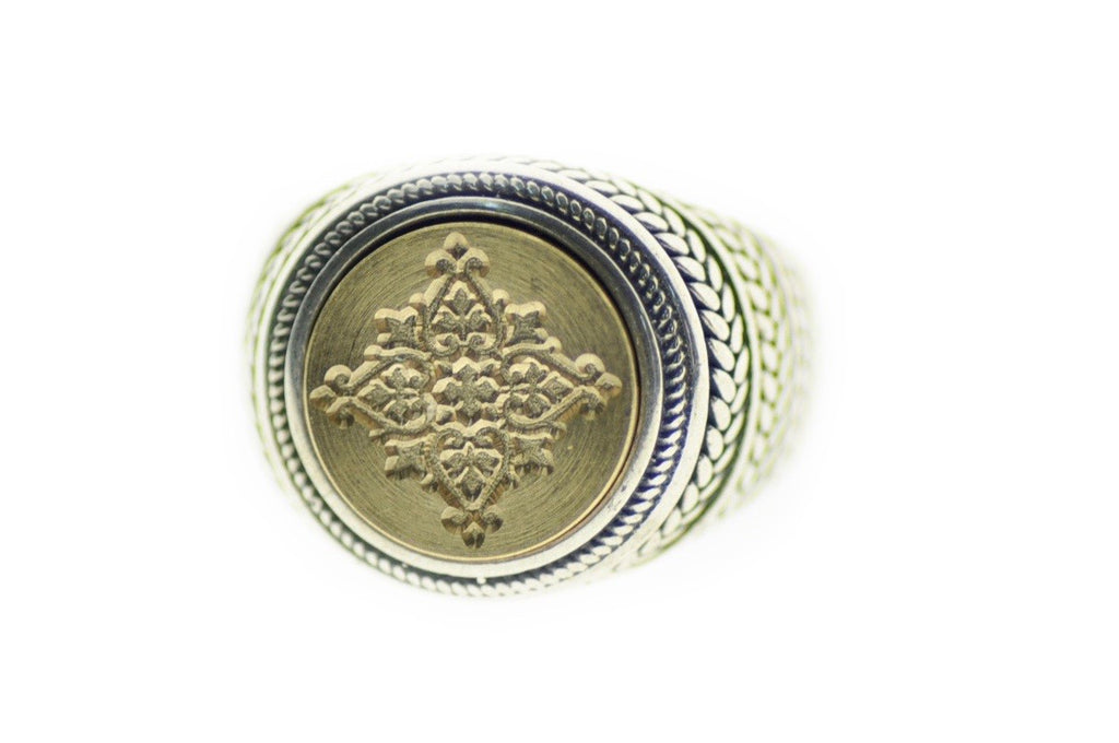Decorative Filigree Signet Ring - Signet Ring - Backtozero