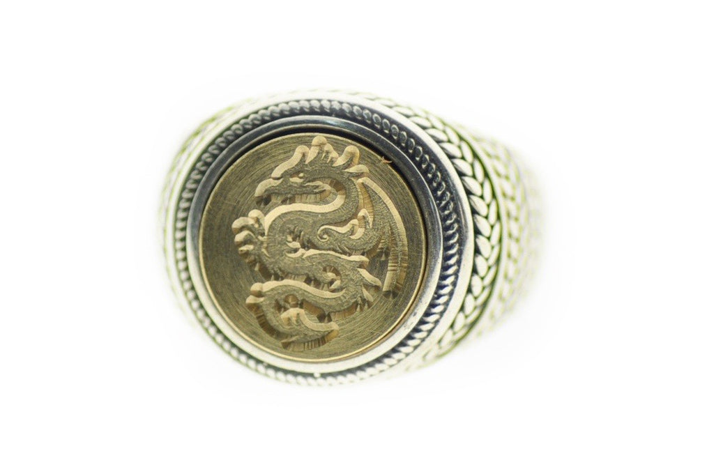 Dragon Signet Ring - Signet Ring - Backtozero