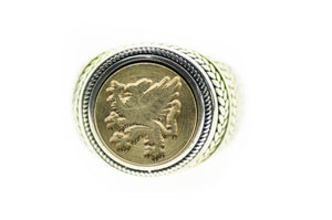 Griffin Signet Ring - Signet Ring - Backtozero