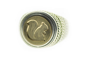 Squirrel Signet Ring