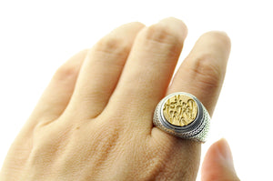 Design your own 12mm Wreath Signet Ring - Signet Ring - Backtozero