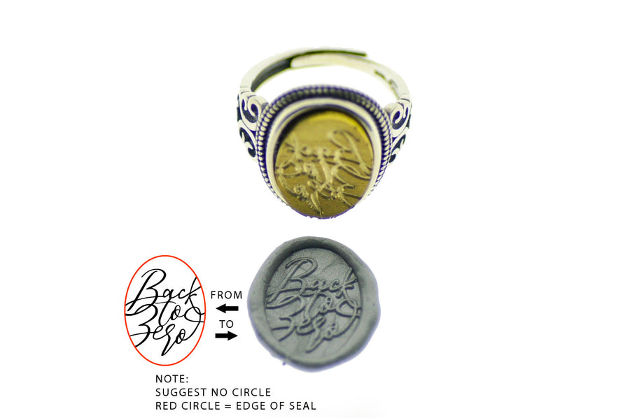 Design your own 12x16mm Filigree Signet Ring - Backtozero