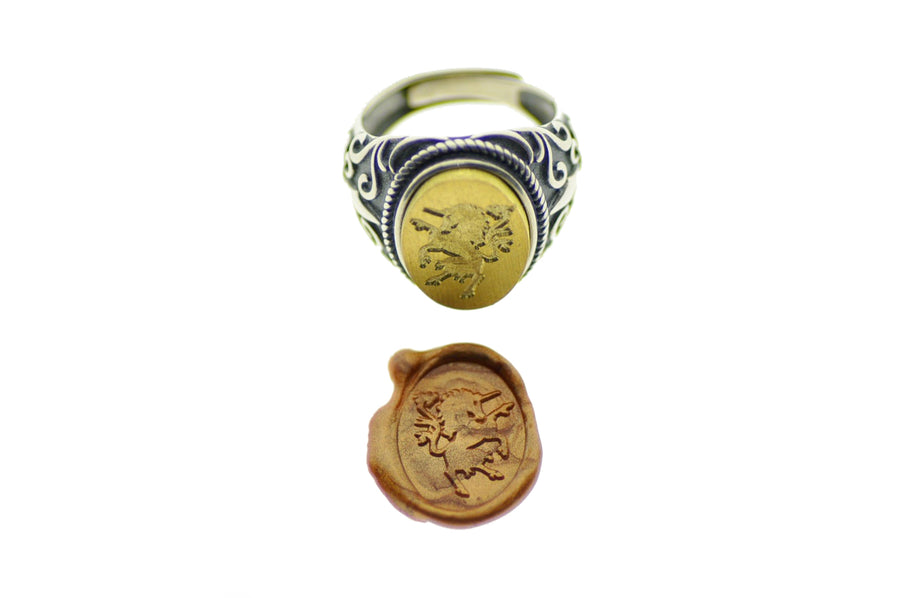 Unicorn Signet Ring - Signet Ring - Backtozero