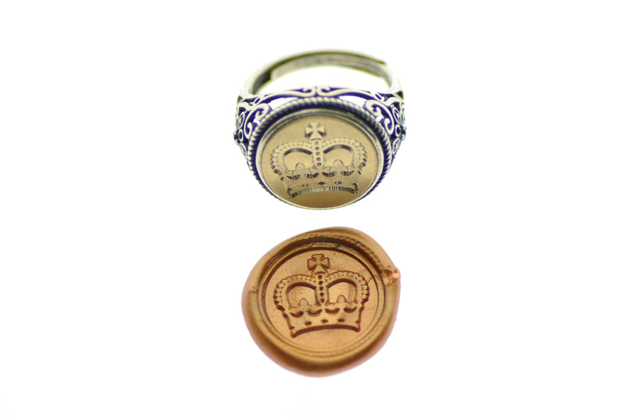 Royal Crown Signet Ring