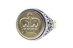 Royal Crown Signet Ring - Backtozero