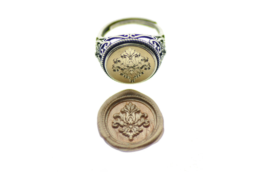 Victorian Filigree Deco Signet Ring - Signet Ring - Backtozero