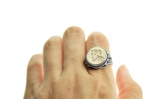Gothic Initial Signet Ring