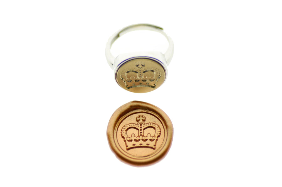 Royal Crown Signet Ring - Signet Ring - Backtozero