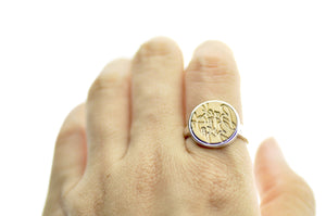 Design your own 14mm Minimal Signet Ring - Signet Ring - Backtozero