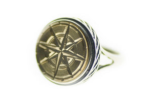 Compass Signet Ring - Signet Ring - Backtozero