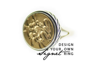 Design your own 15mm Classic Signet Ring - Backtozero